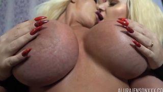 Two Large Titties Blonde MILF's Lesbian Getaway